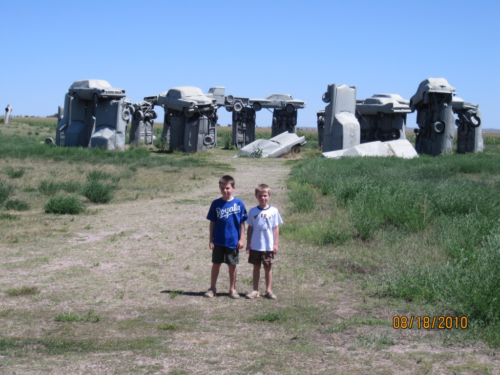Feigning enthusiasm at Carhenge